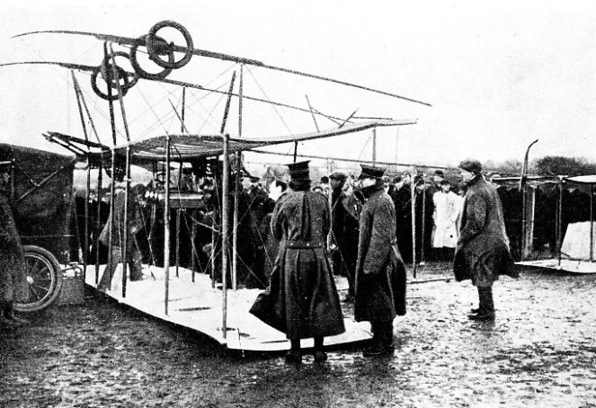 THE HENRI FARMAN BIPLANE in which Claude Grahame-White attempted to make the first flight from London to Manchester