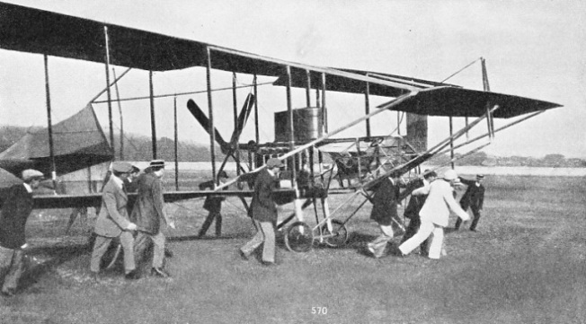 ONE OF THE EARLY BIPLANES with which Cody carried out experiments