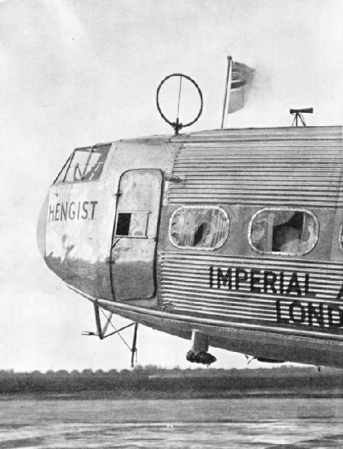 AERIAL EQUIPMENT on the Imperial Airways liner Hengist