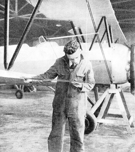 Measuring the Stagger of an aeroplane