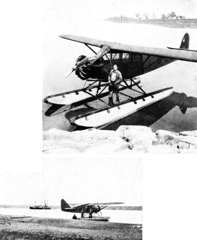 A FAIRCHILD 51 CABIN MONOPLANE on one of the lakes of north Canada