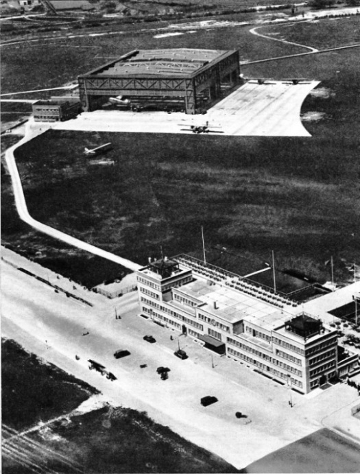 AN AIR VIEW OF MUNICH AERODROME