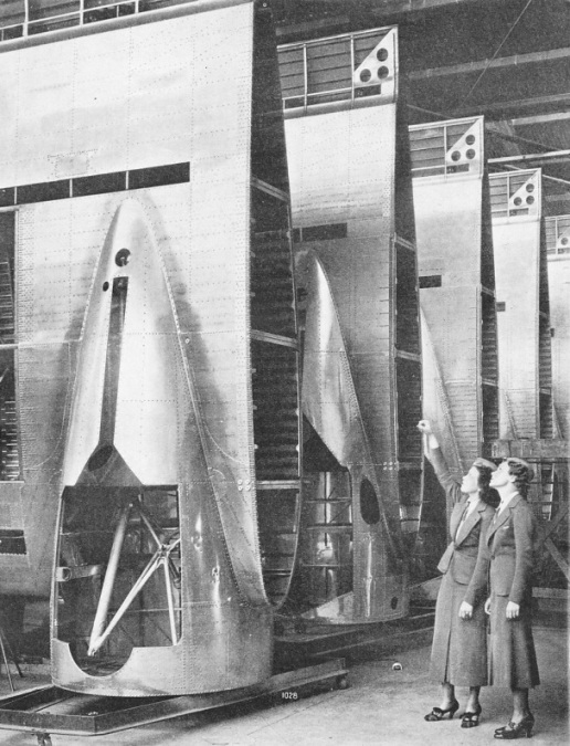 AIR LINER WINGS, stored at the Douglas factory