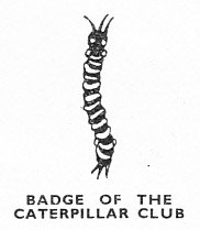 The badge of the Caterpillar Club