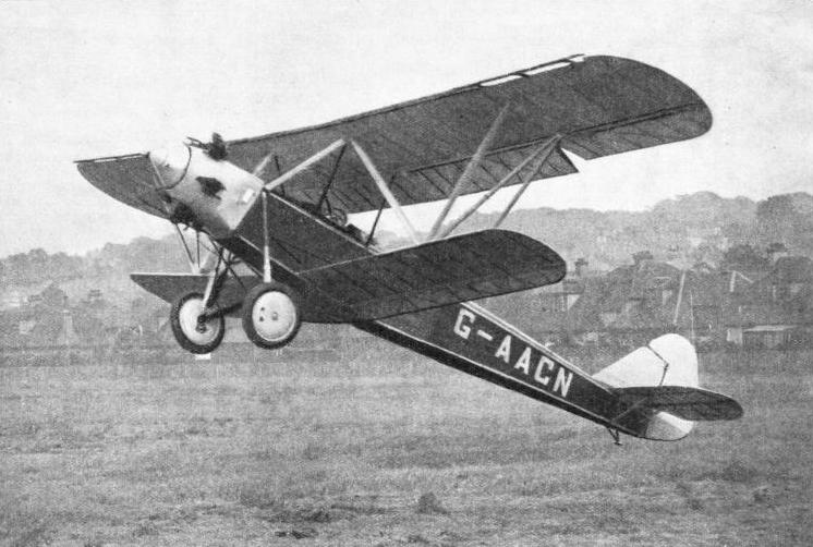 DESIGNED FOR THE INTERNATIONAL SAFE AIRCRAFT COMPETITION held in the United States in 1929, this Handley Page aeroplane was known as the Gugnunc