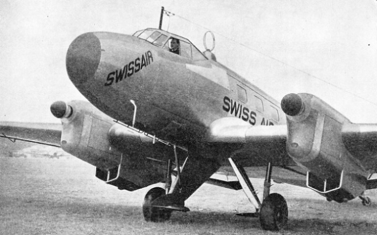 Swissair Aircraft Equipped with Lorenz Radio Apparatus