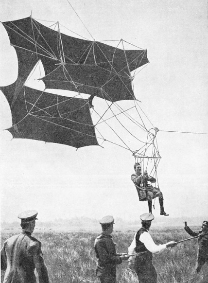 A SAPPER in the Royal Engineers was in 1905 carried to a height of 2,600 feet by one of Cody's man-lifting kites