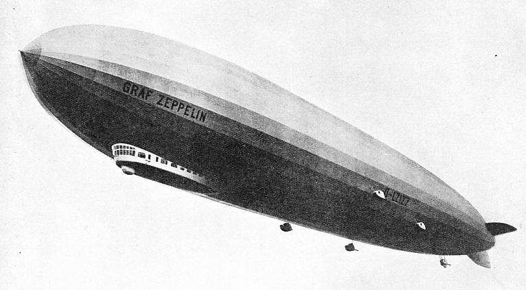BUILT IN 1928, the airship Graf Zeppelin is now in retirement