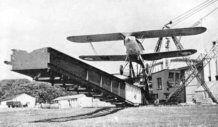 An Aeroplane Mounted on a Catapult at No.1 RAF Flying Training School