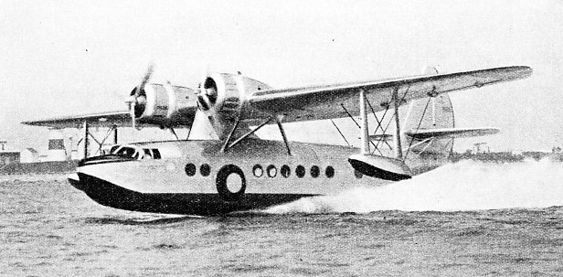 INTER-ISLAND COMMUNICATIONS in the Hawaiian Islands have been provided by Sikorsky S-43 amphibians