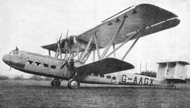 AN IMPERIAL AIRWAYS HP 42 AIR LINER