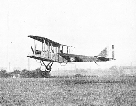 HEAVILY CAMBERED WINGS and square-cut members were features of the De Havilland DH.6