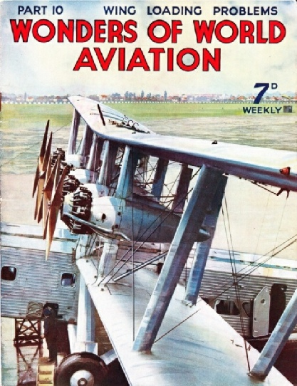 the wings and engines of the Imperial Airways liner Scylla