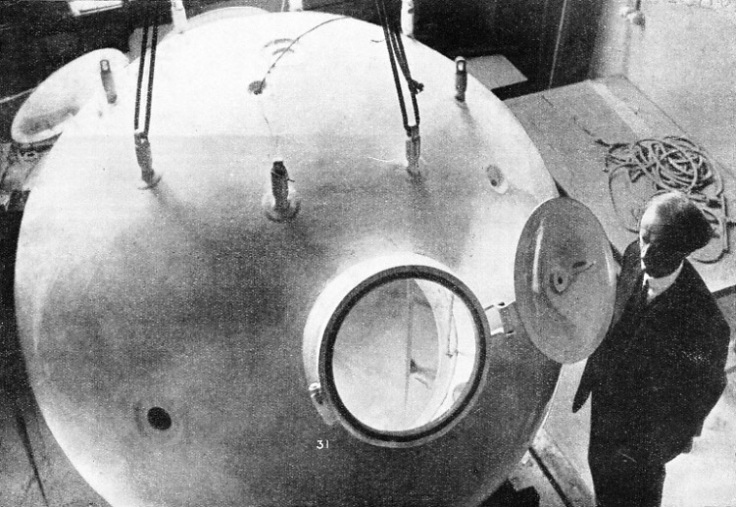 THE GONDOLA OF THE BALLOON in which Professor Piccard ascended into the stratosphere