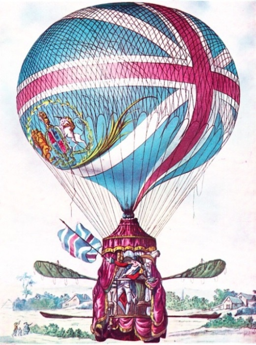 Lunardi's second balloon, the largest hydrogen balloon in existence in 1785