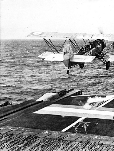 A TAKE-OFF FROM THE DECK OF HMS COURAGEOUS