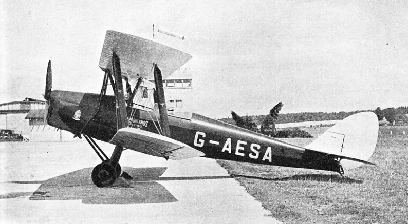 THE TIGER MOTH, a two-seater light training aircraft