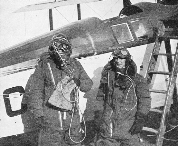 H. J. Penrose, pilot of the Westland PV 3. With him is Air Commodore P. F. M. Fellowes