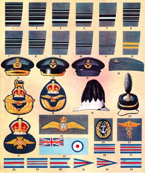 Ranks badges and flags of the RAF