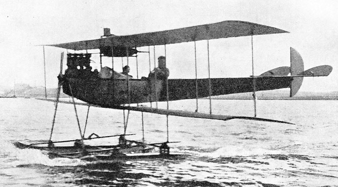 ONE OF THE EARLIEST FLOATPLANES TO FLY OVER BRITISH WATERS