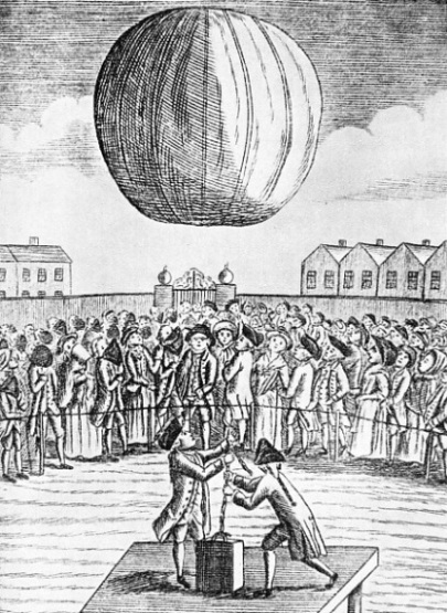 THE FIRST HYDROGEN BALLOON to be launched publicly in Great Britain was sent up by Count Francesco Zambeccari in 1783