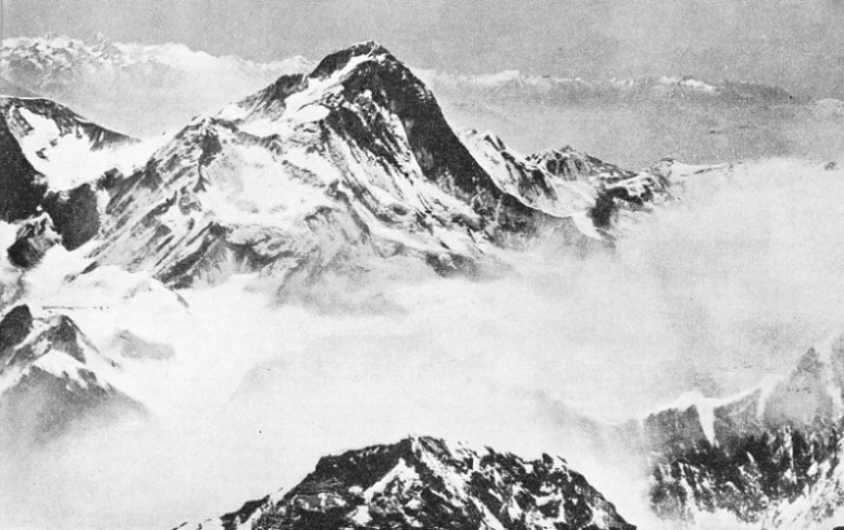 A view of the summit of Makalu (27,790 feet high), from a photograph taken by Lieut.-Col. L. V. S. Blacker