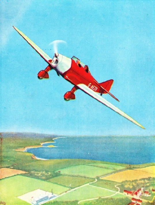 THE MILES MAGISTER is a low-wing cantilever monoplane often used for instructional purposes