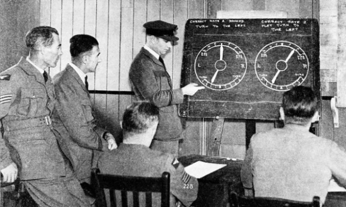 A LECTURE ON INSTRUMENT FLYING in progress at the Central Flying School